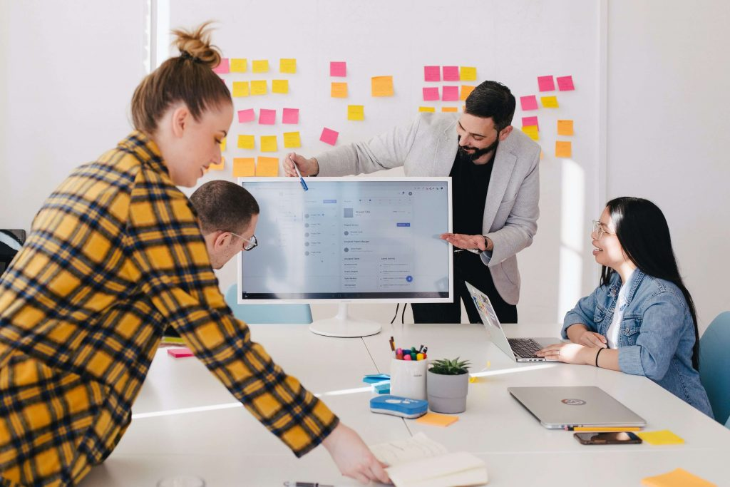 Product Designer guides you and the development team through the process of designing the product by running a workshop that translates your idea to a set of requirements and features.