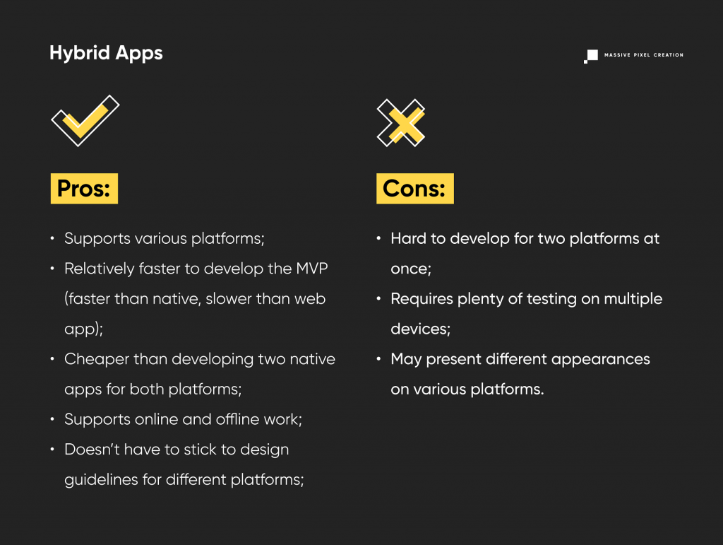 Hybrid Apps Pros and Cons