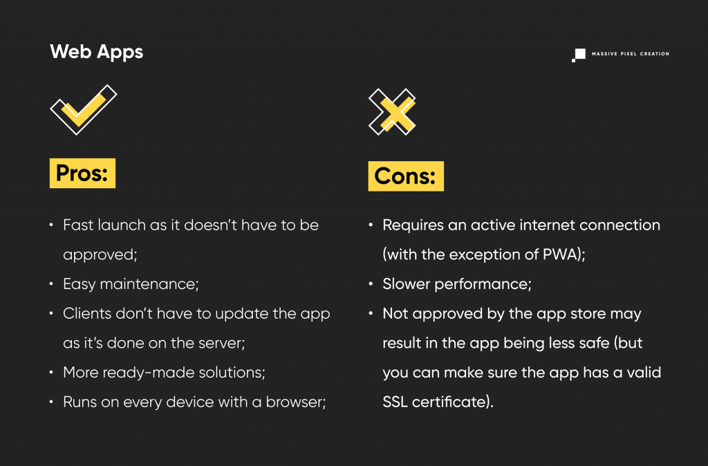 Web Apps Pros and Cons