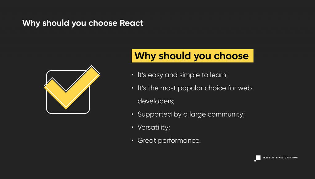 Why You Should Choose React
