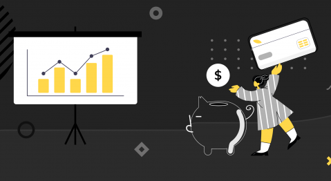 Illustration visually depicting software development outsourcing cost.