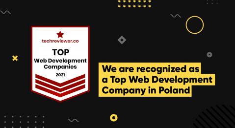 Image with Techreviewer's Top Web Development Company in Poland 2021 badge for Massive Pixel Creation